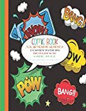 Comic Book Superhero Composition Notebook Wide