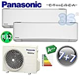 NEUE DUO Split raum klimagerät R32 ETHEREA PANASONIC Klimaanlage 2+2 KW A+++