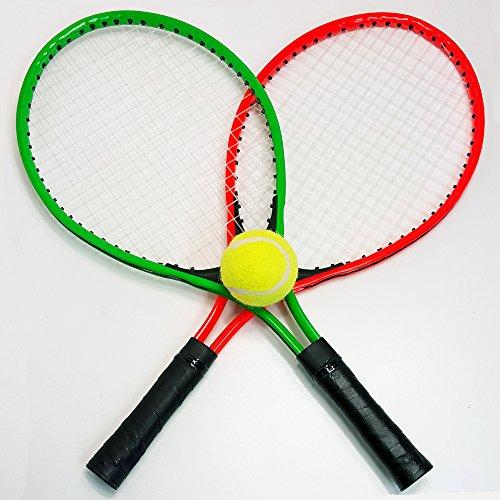 Preisvergleich Produktbild 4 tlg. Tennis SET für Kinder und Jugendliche , 2 Tennis Schläger, 1 Tennis Ball, 1 Tasche, Beach Strand Garten Ball Spiel