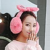 Cute Ohrenschützer Kaninchen Ohr bedecken Ihre Ohren warm ms. Herbst und Winter Fashion Wärme, Wassermelone rote Weihnachten Geschenk Frauen Paar