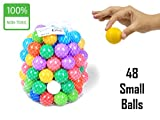 #4: EevOveE ™ 48pcs tiny Small Plastic Color Balls Genuine Quality Set of 48 (Small Size)