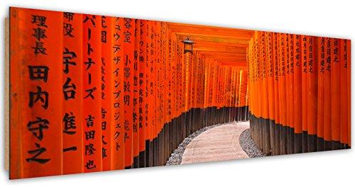 Feeby. Imagen, Cuadro decoración, Pintura - de una pieza, Impresión Deco Panel, Panorámico, 158x53 cm, FUSHIMI INARI-TAISHA, JAPÓN, ANARANJADO
