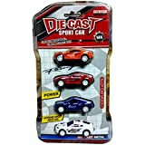 Die-Cast Sports Metal Racing Car Toy for Kids - Set of 4 cars in pack, MultiColor