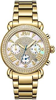 JBW Luxury Women's Victory 1.60 ctw Diamond Wrist Watch with Stainless Steel Link Brac