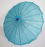 AAF Nommel ® Deko- Kinder- Sonnenschirm aus Stoff und Holz hellblau, 088