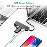 UCOUSO USB C Hub,Type-C to 4 Ports USB 3.0 Hub Adapter for New MacBook Air,MacBook Pro, Laptop, PC, Smartphone and Other Type-C Devices