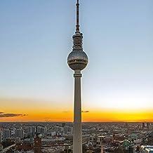 Berlín - Torre De La Televisión, Fernsehturm Cuadro, Lienzo Montado Sobre Bastidor (40 x 40cm)
