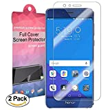 Huawei Honor 8 Schutzfolie [Vollständige Abdeckung], iTURBOS [2 Pack ] [Blasenfreie][Klar HD Ultra] Displayschutzfolie Displayschutz Screen Protector Für Huawei Honor 8 [ Lebenslange Garantie]
