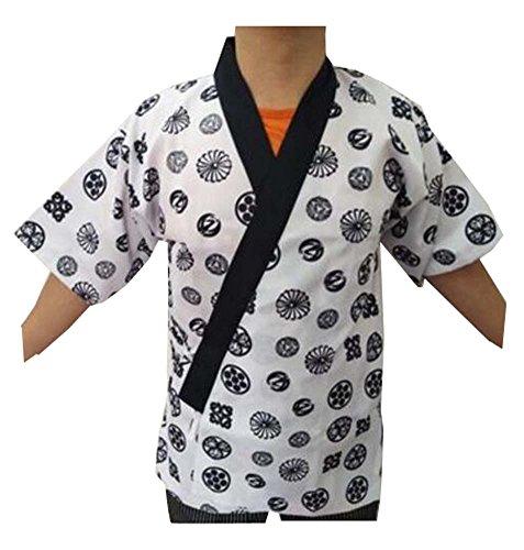 Black Temptation Restaurant-Uniform - japanische Sushi-Chef-Mantel-Uniformen für Männer und Frauen - A3 (Sushi Koch Kostüm)