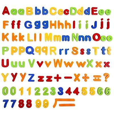 Baobë 106 PCS Lettres Chiffres Magnétiques Multicolor Jouets éducatifs pour Petits Enfants pour l'apprentissage Préscolaire l'orthographe Le comptage