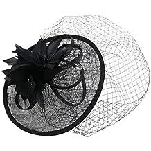 Sharplace Cappello Velo Fascinator Donne Con Perla Piuma Matrimonio 1920s Great Gatsby