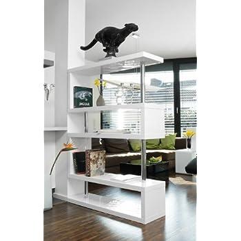 pharao24 regale raumteiler standregal lore 3 wei amazon. Black Bedroom Furniture Sets. Home Design Ideas