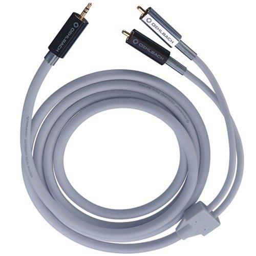 Oehlbach MP3!  Mobiles Audiokabel, 3,5 mm Klinke auf Cinch  weiß  1.00 m - 3.5 Mm Mobile