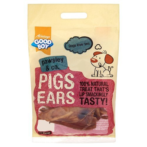 Good Boy Pigs Ears Dog Treats (10 pieces)
