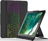 Inateck Custodia tastiera Stellarie per iPad 9.7', Tastiera rimovibile Bluetooth con Retroilluminazione DIY, QWERTY Layout, KB02008