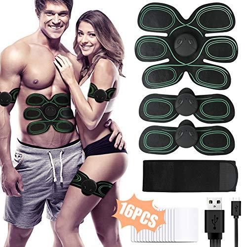 X-EUCO Electroestimulador Muscular Abdominales, Estimulación Muscular Masajeador Eléctrico Cinturón Abdomen/Brazo/Piernas/Glúteos. (Hombre / Mujer)