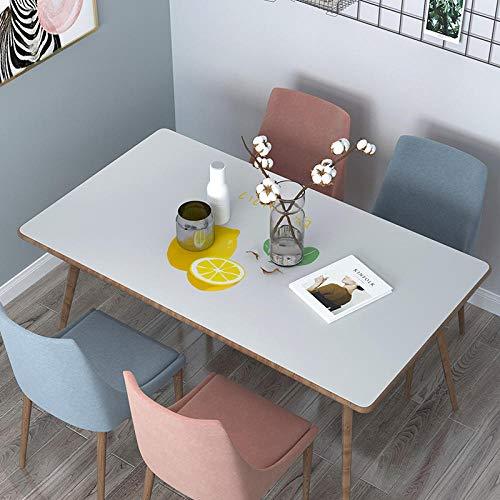 FuJia Tischdecken Weichglas PVC Tischdecke Wasserdicht Anti-Verbrühung Ölfrei Einweg Einfache Druck Esstisch Couchtisch Matte -80 * 120 cm