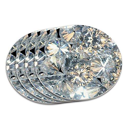 Lose Diamanten (Bild nur) Untersetzer Set (Diamanten Lose Ring)