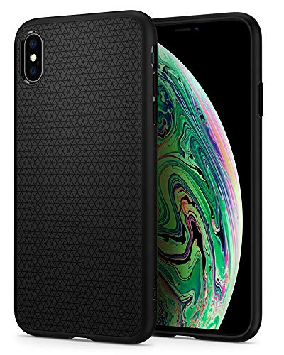 Spigen Liquid Air Funda iPhone XS MAX con Durable Flex y Easy Grip Design para iPhone XS MAX 6.5' (2018) - Negro Mate