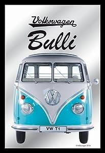 Close Up v829145Espejo Bulli VW Licencia Espejo de Pared, Negro