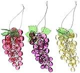 Best KURT ADLER Christmas Trees - Kurt Adler 4-Inch Beaded Grapes Ornament, Set of Review