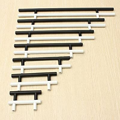 "10 X T Bar Handles Kitchen Bedroom Cabinet Door Drawer Pull Knobs 4""-16""+ Screw - cheap UK door handle store."