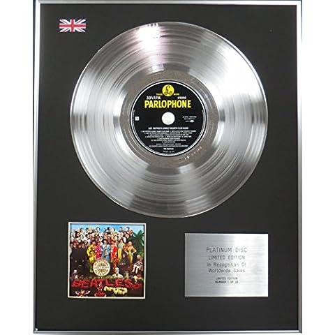 THE BEATLES-Limited Edition CD Platinum disco, motivo: SGT PEPPER