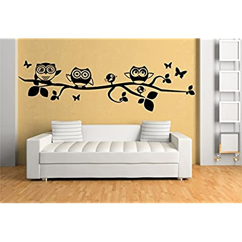 Stickerkoenig Adesivo da parete gufi e uccelli