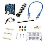 Huihuiya Kit di Alta qualità Uno Compatibile Kit Uno di Profesional per Arduino Uno R3 Kit di Accessori Completo-Bianco