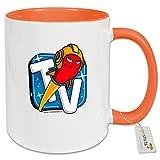 getshirts - Rocket Beans TV Official Merchandising - Tasse Color - Rocketbeans TV Logo - orange uni