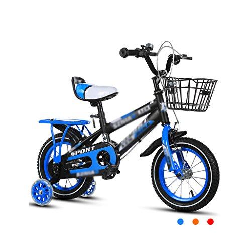Kinderfahrräder Kinderfahrräder 2-3-4-6-7-8 Jahre alt Baby 12-14-16-18 Zoll Kinderwagen 3C Zertifizierung Kind Auto (Color : Blue, Size : 14 inches)