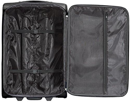 Packenger Lite Traveller Koffer Größe L in Schwarz. Die Abmessungen sind  63x43x24cm. - 3