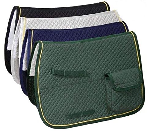 Derby Originals English AP Quilted Saddle Pads with Pockets, Navy