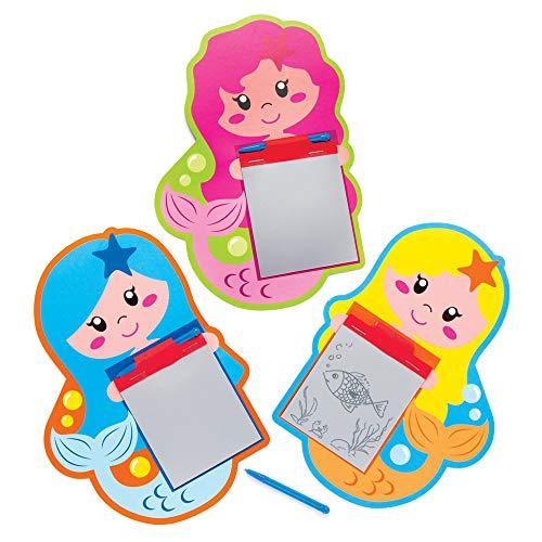 Baker Ross Zaubertafeln Magische Meerjungfrauen (8er Pack) Perfekt für Kinder Goodie Bags, Halloween Partyzubehör, Pinata Filler oder Geburtstagsgeschenk