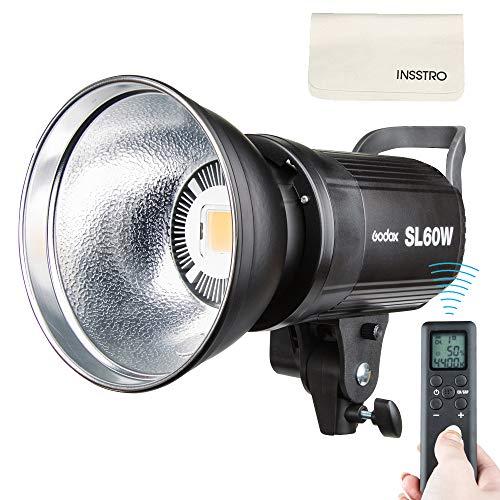 Godox SL-60W 60W LED-Studiolicht, 5600K kontinuierliche LED-Beleuchtung mit Bowens-Halterung für den Außenbereich, DSLR Digital Spiegelreflexkameras