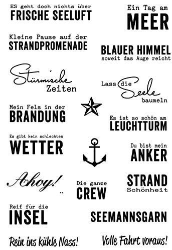 Deutsche Wortstempel klare Stempel für Scrapbooking transparenten Silikonkautschuk DIY Fotoalbum Dekor R03