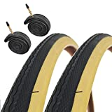 Raleigh CST T1240 Traditional 700 x 28c Road Bike Tyres with Presta Tubes (Pair)