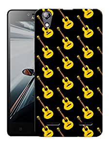 "Humor Gang Raining Guitars Printed Designer Mobile Back Cover For ""Lenovo A6000 - A6000 PLUS"" (3D, Matte Finish, Premium Quality, Protective Snap On Slim Hard Phone Case, Multi Color)"