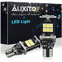 AUXITO T15 W16W LED Bombillas, CANBus Sin Errores 1000 Lumen 6000K Xenon Blanca Luces de Copia de Seguridad Inversa, 921 912 2835 15-SMD Para el Estacionamiento Luz Luces Marcha Atrás  DC 12V (2 PACK)