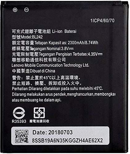 TokyoTon Mobile Battery for Lenovo A6000 Plus BL242