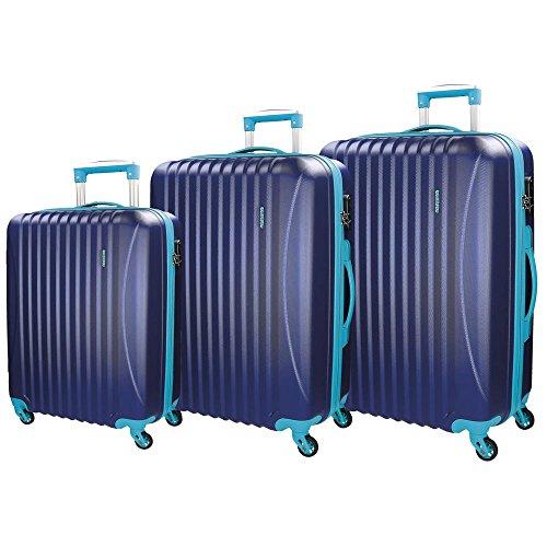 Movom Piccadilly Juegos de maletas, 77 cm, 219 litros, Azul