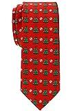 Retreez Herren Schmale Gewebte Weihnachten Krawatte Weihnachtsbaum 6 cm - rot, Weihnachtsgeschenk