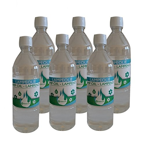 6 x 1 Liter Umweltfreundliches Bio-Lampenöl für Gartenfackel Kerzenöl zum Wiederbefüllen (6)