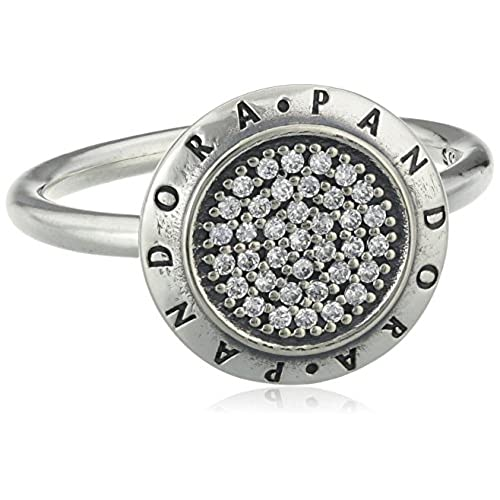 Pandora Pearl Cubic Zirconia Silver Ring - Size K 190919CZ-50