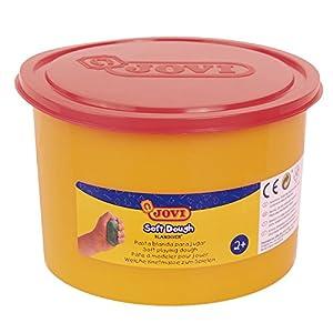Jovi - Soft Dough Blandiver, Bote de 460 g, Color Rojo flúor (46007F)