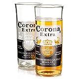 Corona Lot de 2 verres en bouteille de Corona recyclées 330 ml