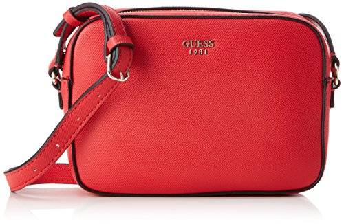 Guess Damen Bags Hobo Schultertasche, Rot (Cny Red), 5.5x16x22 centimeters