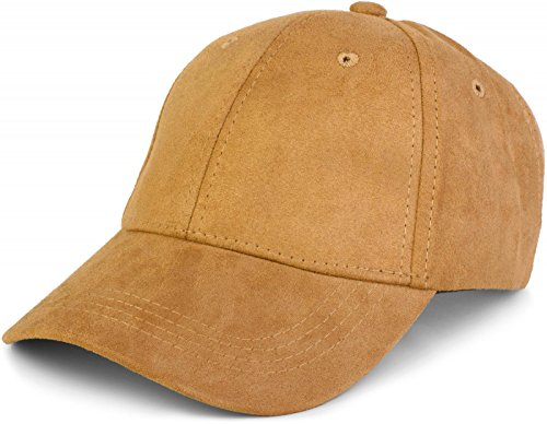 styleBREAKER 6-Panel Cap in Veloursleder, Wildleder Optik, Baseball Cap, verstellbar, Unisex 04023049, Farbe:Camel
