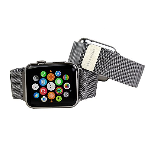 Preisvergleich Produktbild Snugg™ Apple Watch Milanese Loop Stainless Steel Strap with Lifetime Guarantee - 42mm Wrist Strap for the Apple Watch