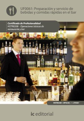 Preparación y servicio de bebidas y comidas rápidas en el bar por Matilde Laura Charquero Gómez